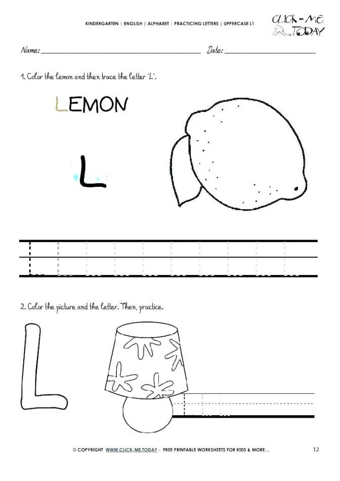 Letter L Worksheet Preschool Worksheet 52 Extraordinary Preschool Letter Writing