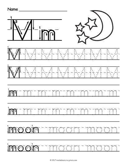 Letter M Worksheets for Preschoolers Free Printable Tracing Letter M Worksheet Signlanguage