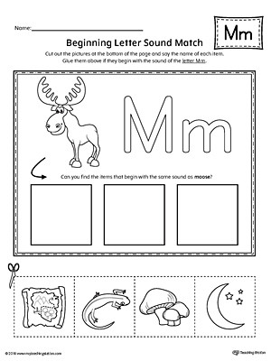 Letter M Worksheets for Preschoolers Letter M Tracing and Writing Printable Worksheet