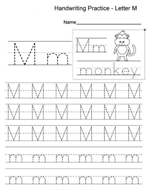 Letter M Worksheets for toddlers Free Printable Letter M Worksheets for Kindergarten & Preschool