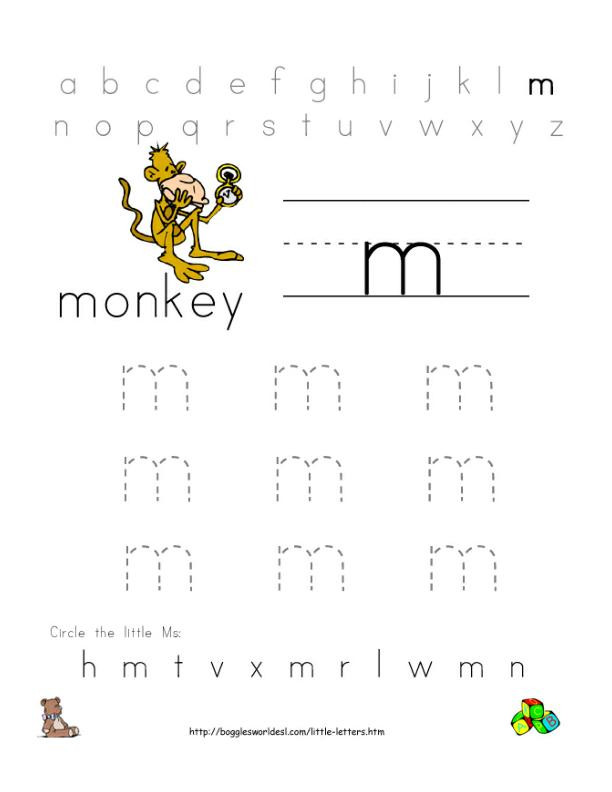 Letter M Worksheets for toddlers Letter M Alphabet Worksheets