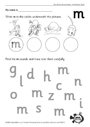 Letter M Worksheets for toddlers Letter M Phonics Activities and Printable Teaching Resources