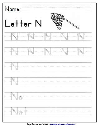 Letter N Worksheets for Kindergarten Letter N Worksheets Recognize Trace & Print