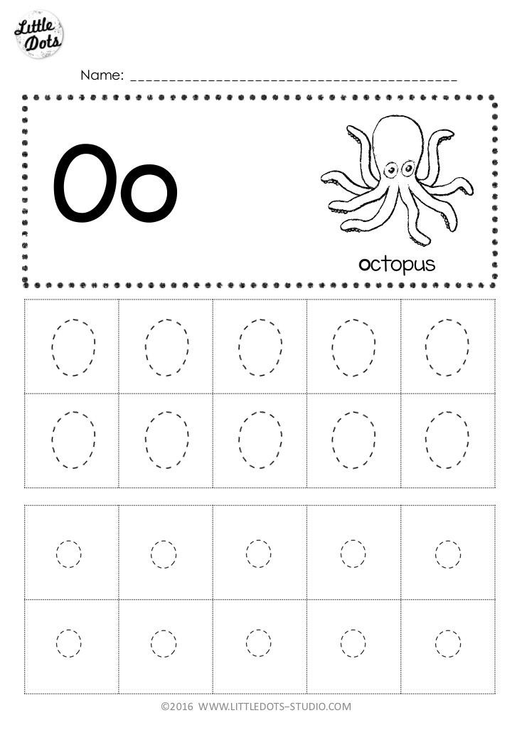 Letter O Worksheets for Preschool Free Letter Oo Tracing Worksheets