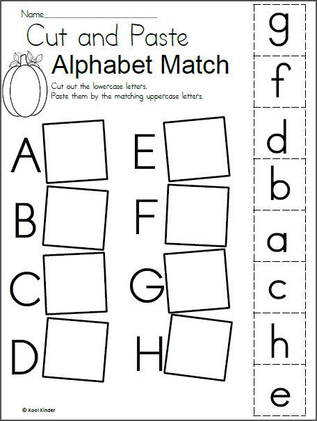 Letter Recognition Worksheets for Kindergarten Alphabet Match Worksheet for Fall