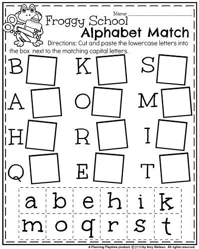 Letter Recognition Worksheets for Kindergarten Back to School Kindergarten Worksheets