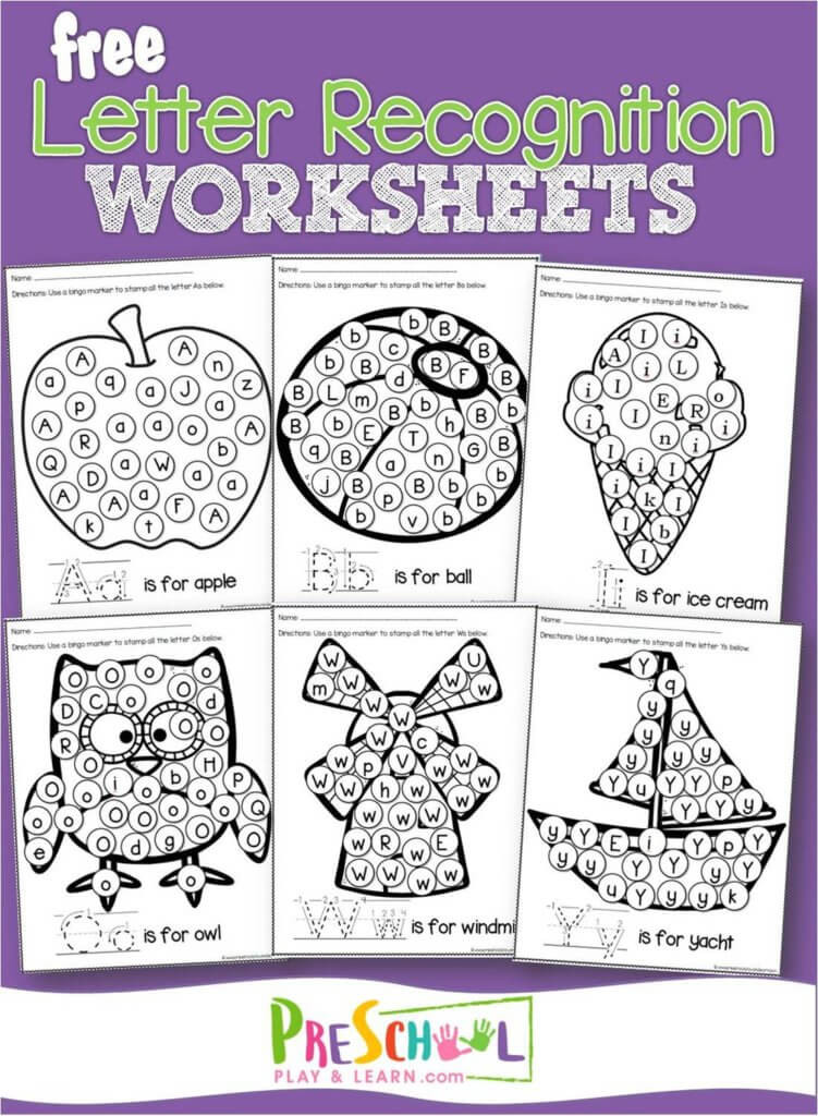Letter Recognition Worksheets for Kindergarten Free Letter Recognition Worksheets A to Z