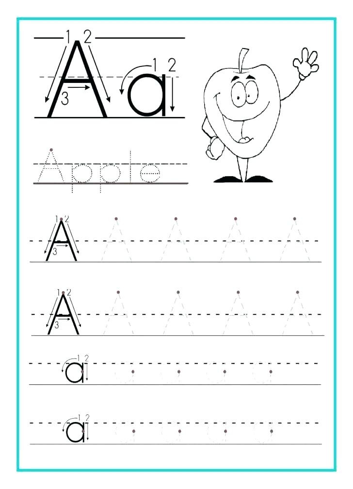 Letter Tracing Worksheets Pdf Alphabet Worksheets for Kindergarten Pdf Alphabet Writing