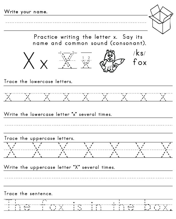 Letter X Worksheets for Preschoolers X Phonics Worksheet the Best and Most Prehensive Worksheets