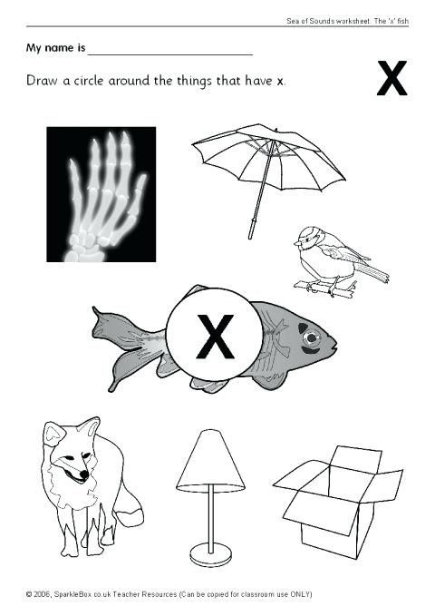 Letter X Worksheets Kindergarten Alphabet Worksheets Phonics Worksheets Alphabet and View