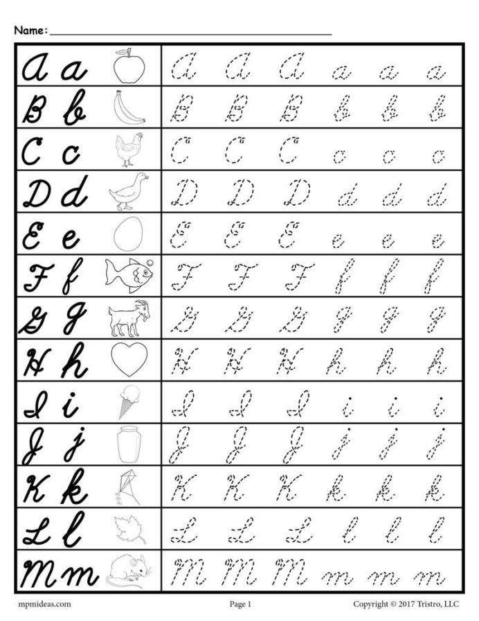 Lowercase Letter Tracing Worksheet Cursive Uppercase and Lowercase Letter Tracing Worksheets