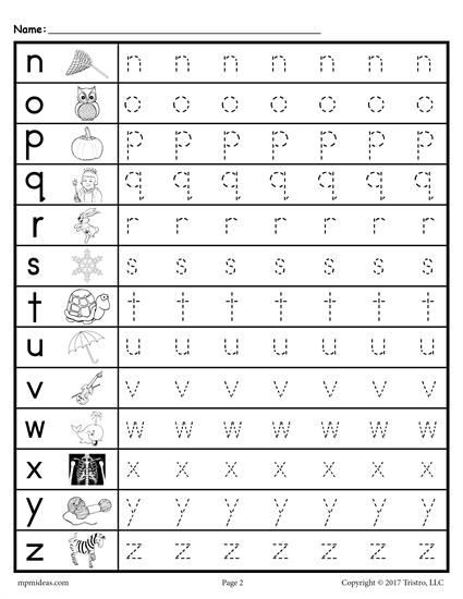 Lowercase Letter Tracing Worksheet Lowercase Letter Tracing Worksheets