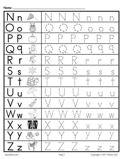 Lowercase Letter Tracing Worksheet Uppercase and Lowercase Letter Tracing Worksheets