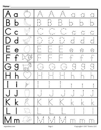 Lowercase Letter Tracing Worksheet Uppercase and Lowercase Letter Tracing Worksheets – Supplyme