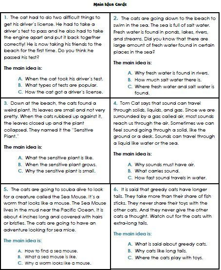 Main Idea Worksheets Grade 1 Main Idea Worksheets 3rd Grade 1