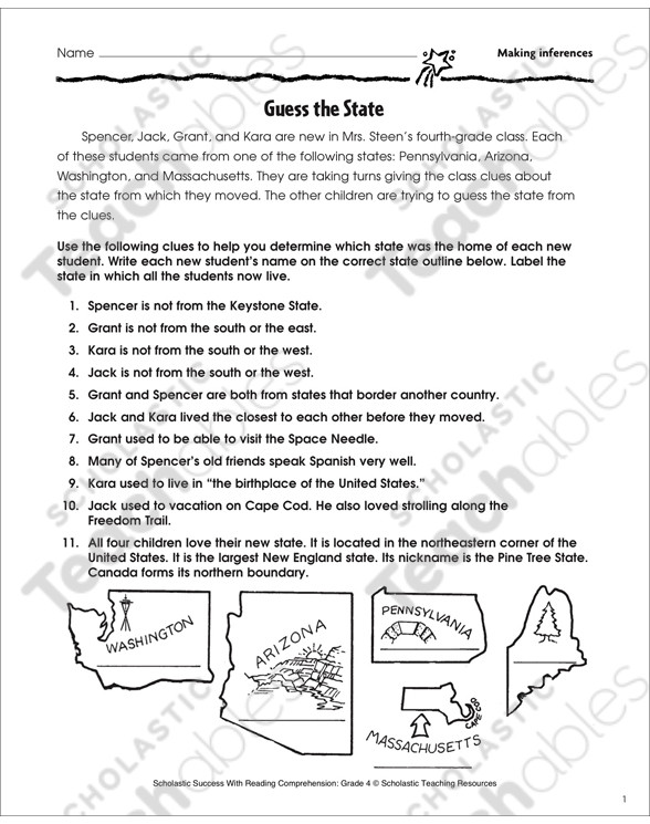 Making Inferences Worksheet 4th Grade Making Inferences Grade 4 Collection