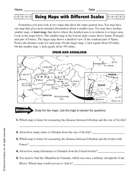 Map Scale Worksheet 3rd Grade Free Map Scale Lesson Plans & Worksheets Reviewed by Teachers