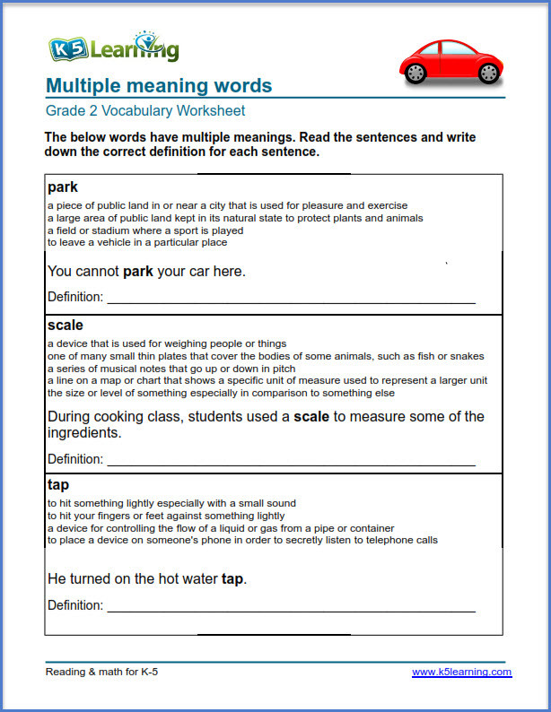 Map Worksheets 2nd Grade 2nd Grade Vocabulary Worksheets – Printable and organized by