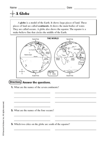 Maps Worksheets 2nd Grade Printable World Maps Map Worksheets 4th Grade Continents and
