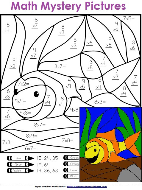 Math Mystery Picture Worksheets Math Mystery Picture Worksheets