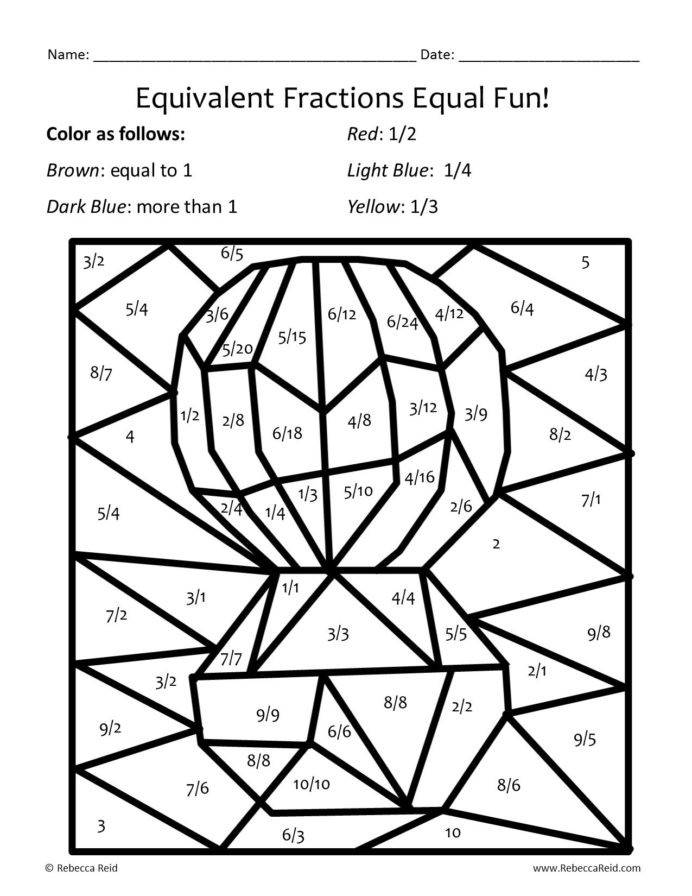 Math Mystery Picture Worksheets Printable Coloring Math Worksheets and Mystery Equivalent