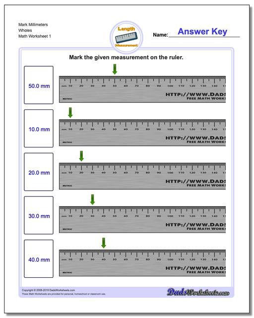 Measurement Worksheet 3rd Grade Metric Measurement