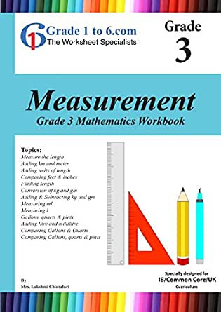 Measurement Worksheet Grade 3 Amazon Grade 3 Maths Measurement Pyp K 6 Ks2