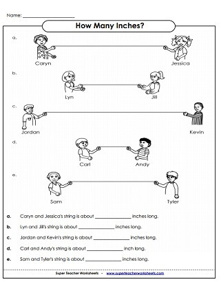 Measurement Worksheets 5th Grade Measurement Worksheets Yards Feet Inches
