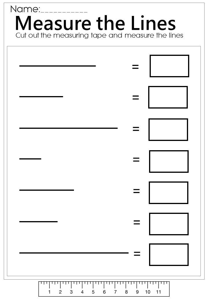 Measurement Worksheets for 2nd Grade Measure the Line Worksheet