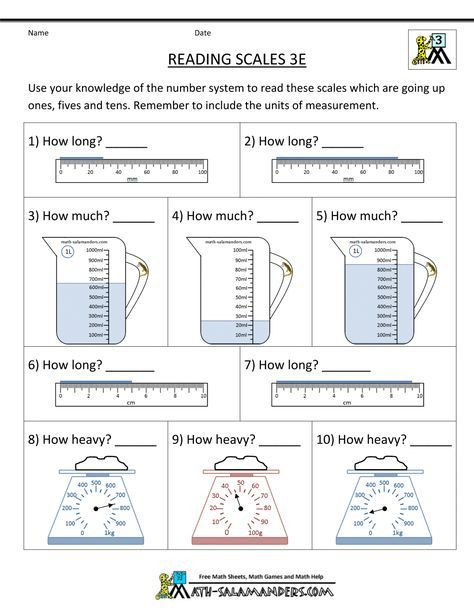 Measurement Worksheets for 3rd Grade 3rd Grade Measurement Worksheets