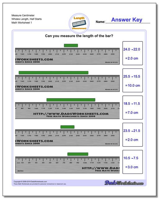 Measurement Worksheets for 3rd Grade Metric Measurement