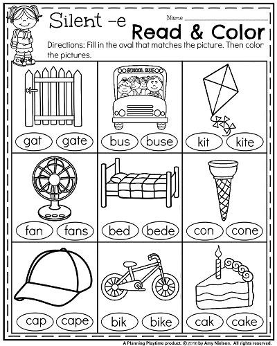 Medial sounds Worksheets First Grade 1st Grade Math and Literacy Worksheets with A Freebie