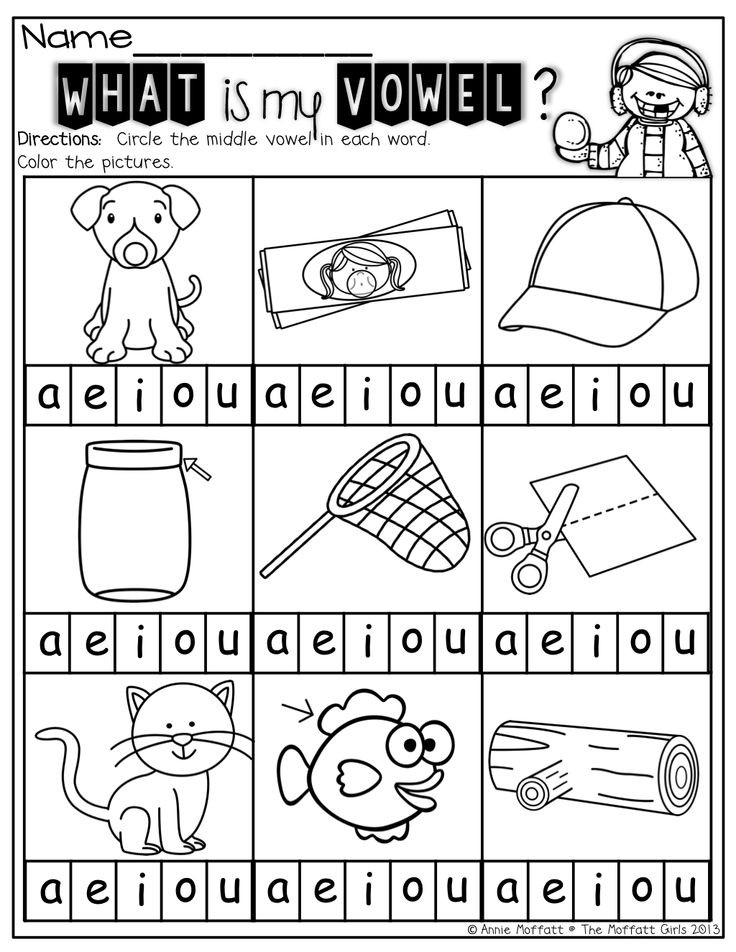 Medial sounds Worksheets First Grade Cvc Worksheet New 734 Cvc Middle A Worksheet