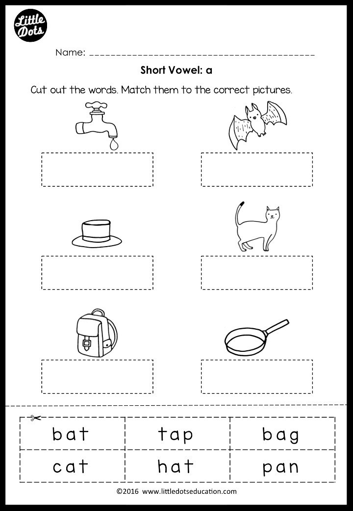 Medial sounds Worksheets First Grade Short Vowels Middle sounds Worksheets and Activities