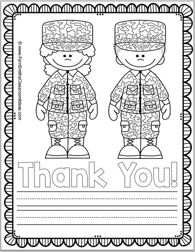 Memorial Day Worksheets First Grade Free Memorial Day Coloring Page and Thank You Notes Teach
