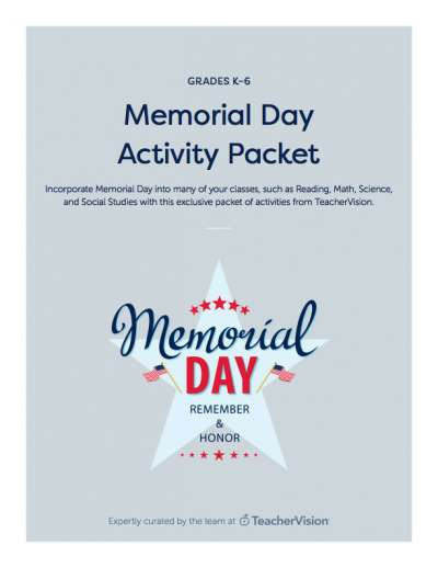Memorial Day Worksheets First Grade Memorial Day Printables & References K 12 Resources