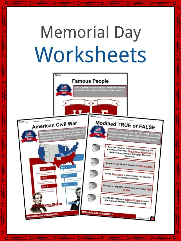 Memorial Day Worksheets Free Printable Memorial Day Facts Worksheets & Historical Information for Kids