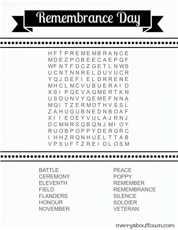Memorial Day Worksheets Free Printable Remembrance Day Worksheets Wordsearch & Colouring Page
