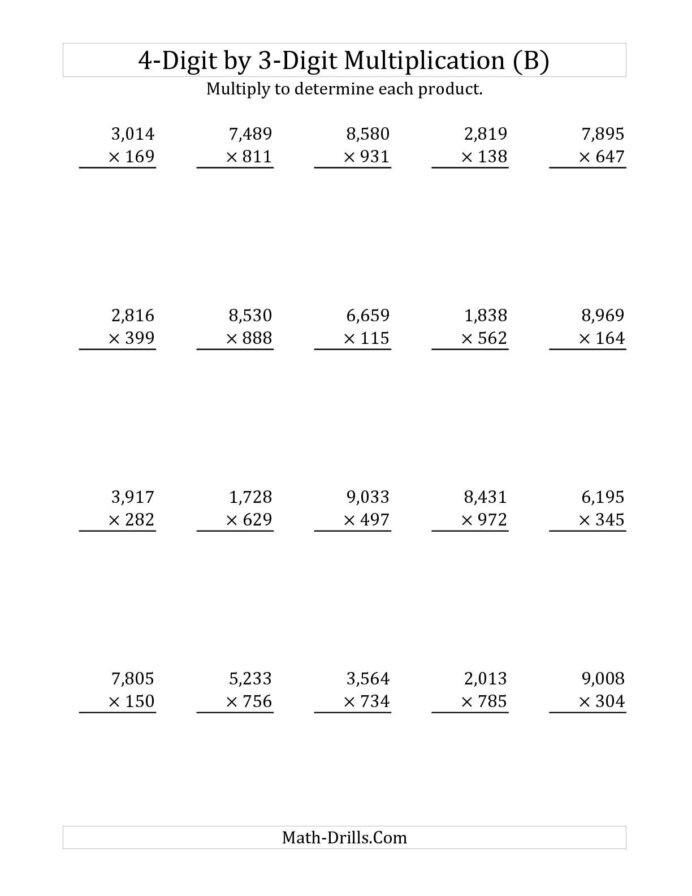 Mental Math Multiplication Worksheets Cbse 4th Grade Math Worksheets Multiplication Worksheets 3