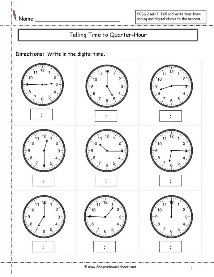 Minute Math Worksheets 1st Grade Telling and Writing Time Worksheets Clock Grade