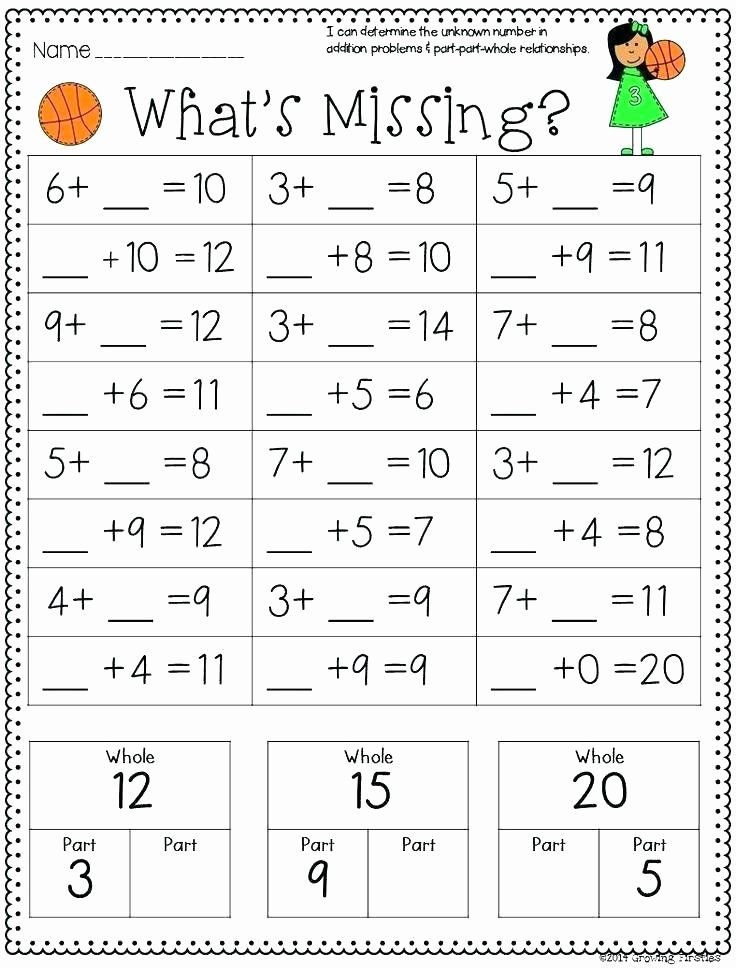 Missing Addends Worksheets 1st Grade Pin On Editable Grade Worksheet Templates