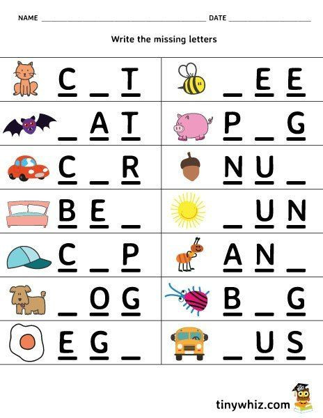 Missing Letter Alphabet Worksheets Free Printable Worksheet Write the Missing Letter 3 Letter