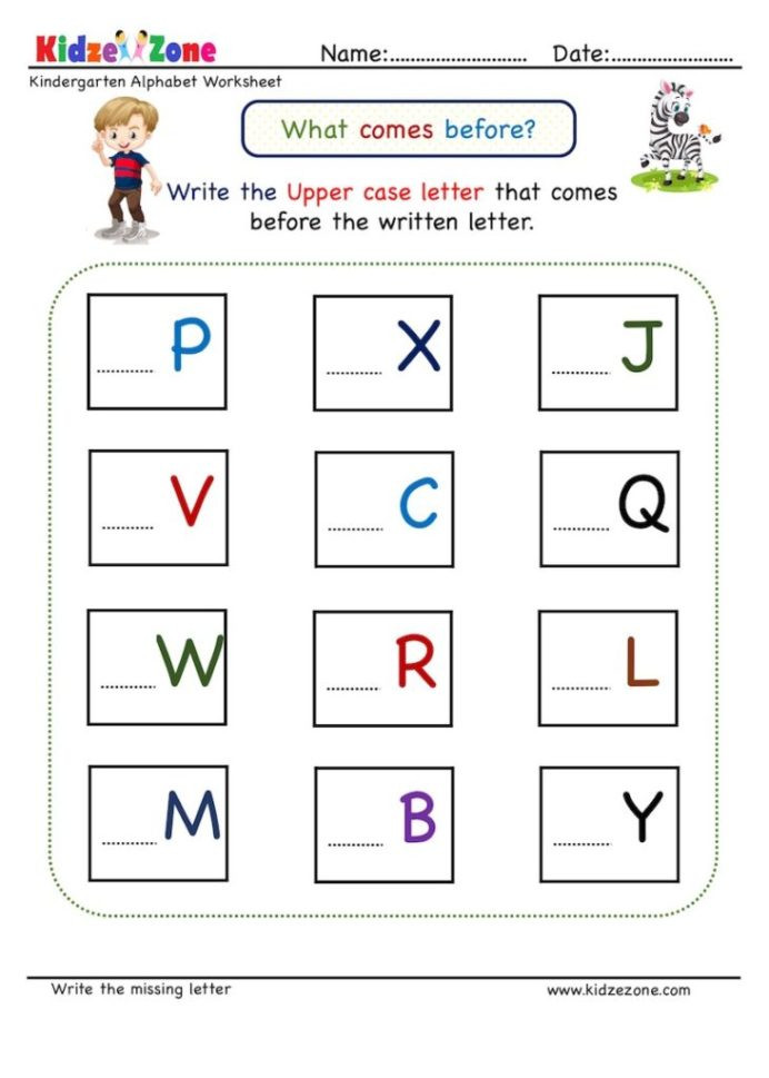 Missing Letter Alphabet Worksheets Kindergarten Missing Letter Worksheet Es before
