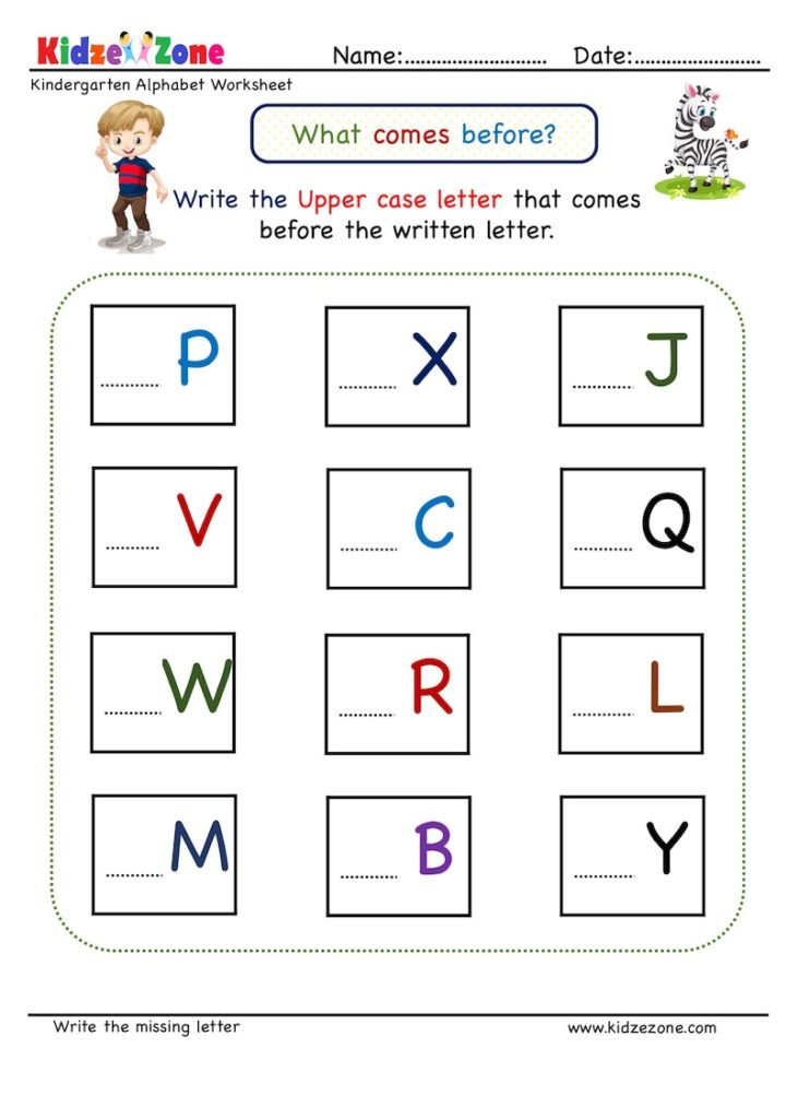 Missing Letters Worksheet for Kindergarten Kindergarten Missing Letter Worksheet Es before