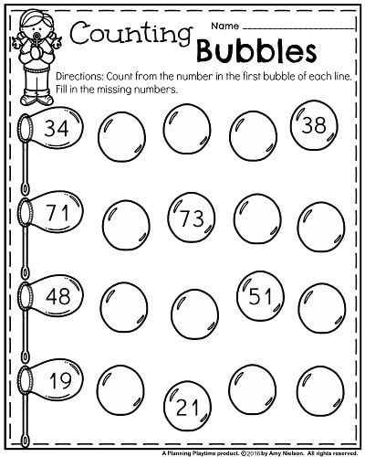 Missing Number Worksheets Kindergarten Kindergarten Worksheets for May