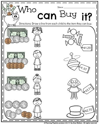 Money Worksheets for Second Grade Money Worksheets for 2nd Grade with Images