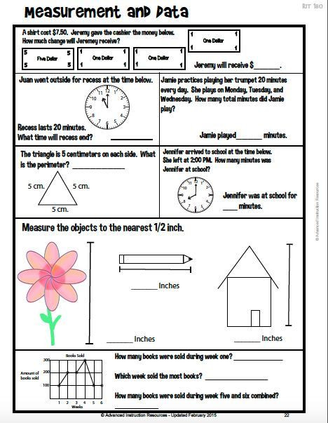 Nwea Math Practice Worksheets Nwea Math Map Review