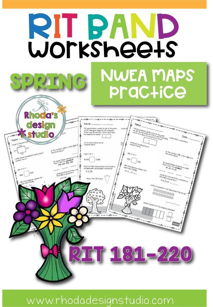 Nwea Math Practice Worksheets Spring Math Worksheets Nwea Map Prep Practice Rit Band 180