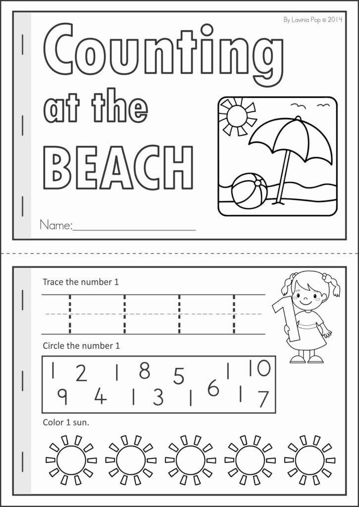 Oceans Worksheets for Kindergarten Ocean theme Preschool Math Worksheets Clover Hatunisi