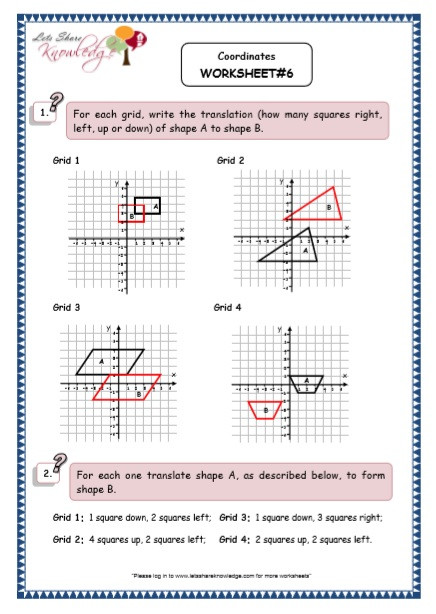 Ordered Pairs Worksheet 5th Grade Grade 5 Maths Resources Coordinates Printable Worksheets